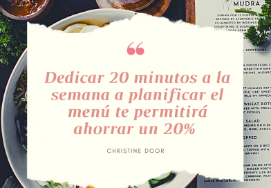 Hábito 4: Dedica 20 minutos a planificar el menú semanal